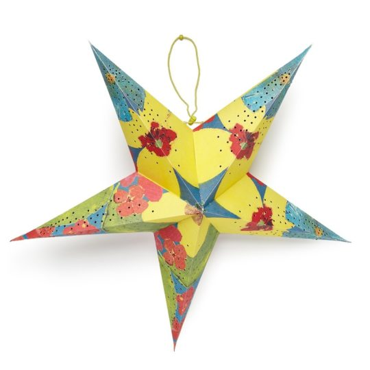 tropical paper star