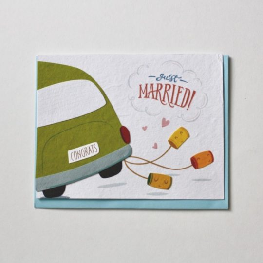 wedding car bday card