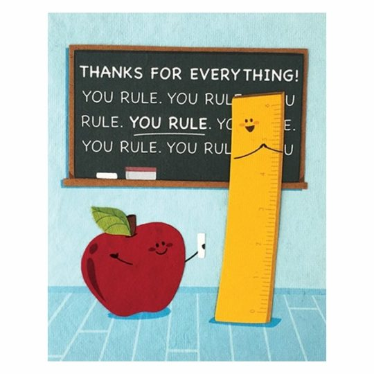you rule teacher card