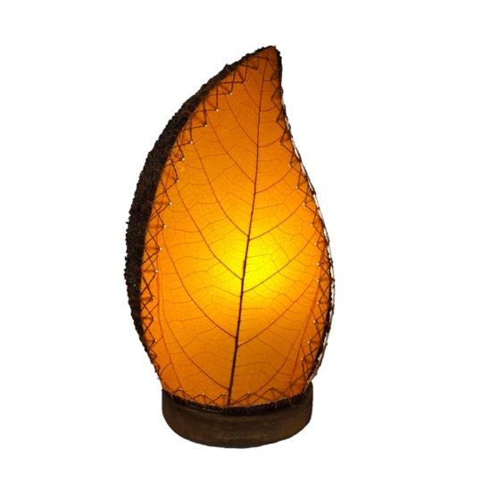 leaflet table lamp orange