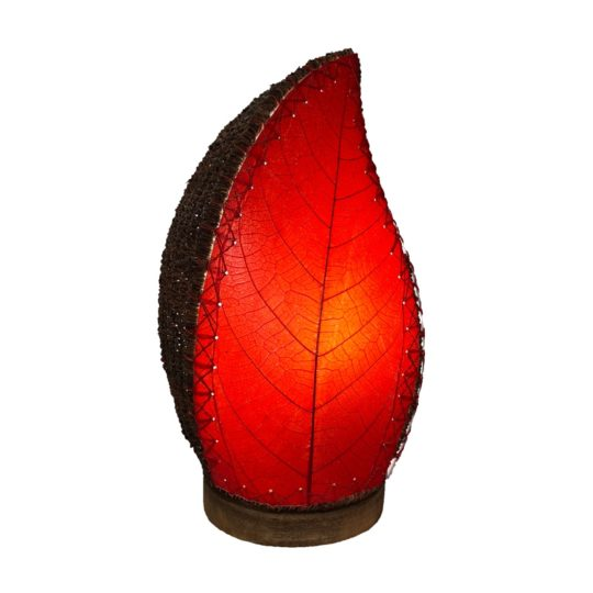 leaflet table lamp red