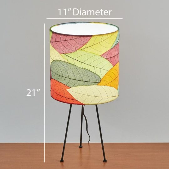 metal tripod leaf table lamp dimensions