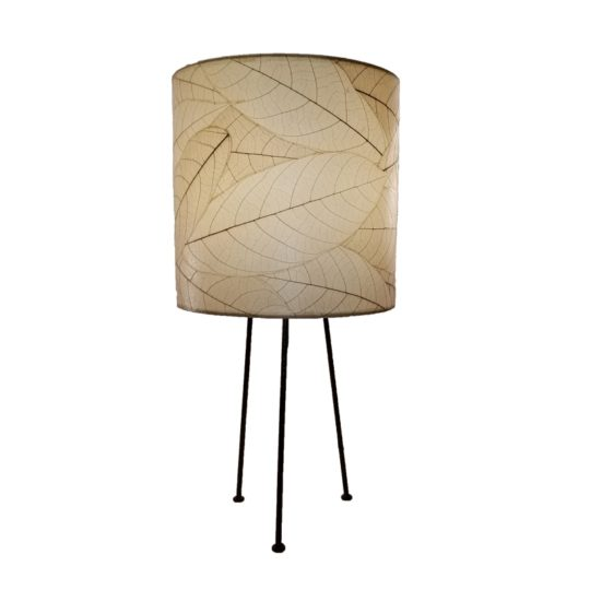 metal tripod leaf table lamp natural