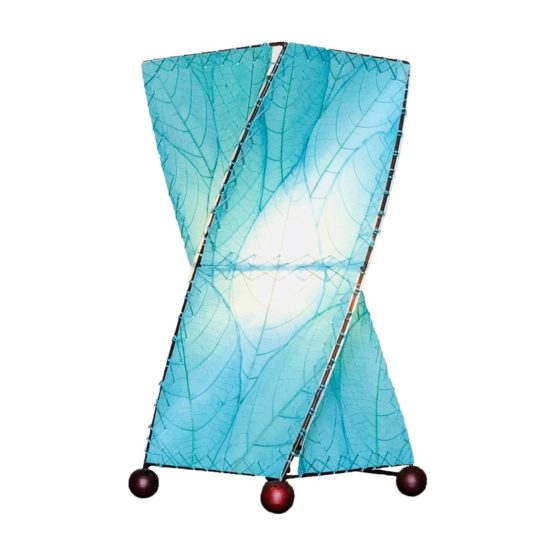 twist leaf table lamp blue