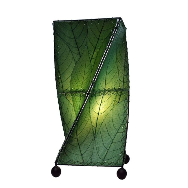 twist leaf table lamp green
