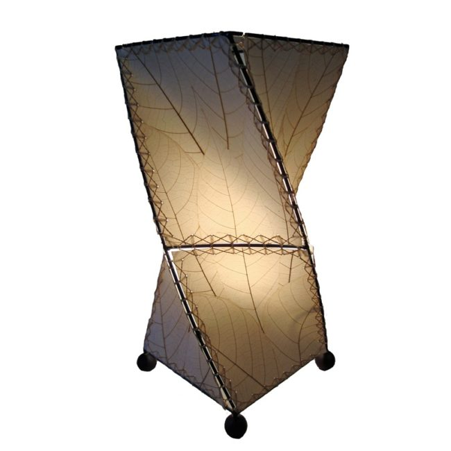 twist leaf table lamp natural