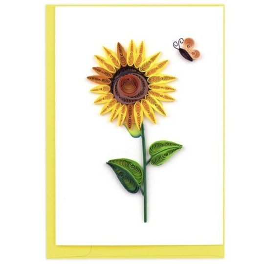 sunflower quilling card box set