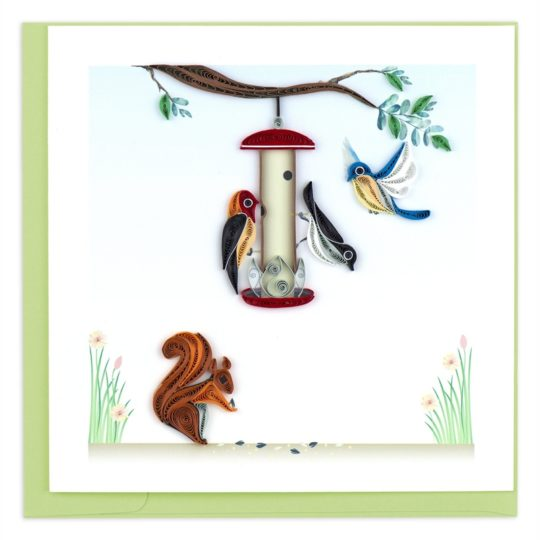 bird feeder quilling card