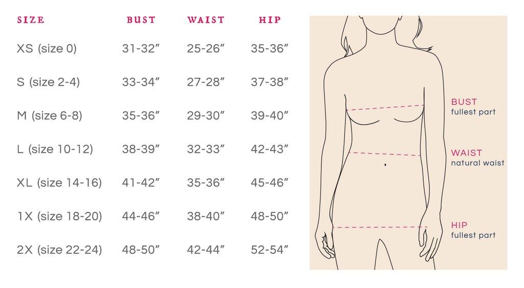 mata size chart