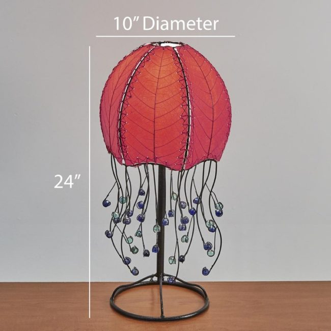 jellyfish leaf table lamp dimensions