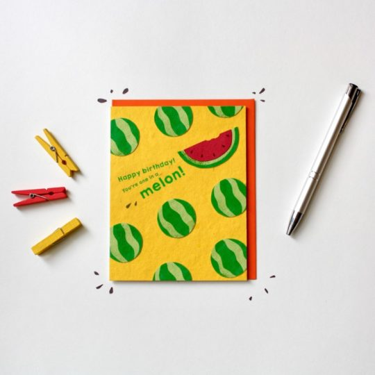 one in melon card styled