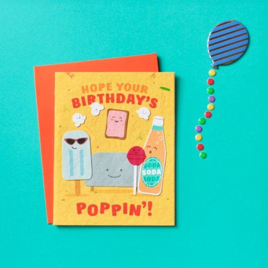 poppin bday card styled