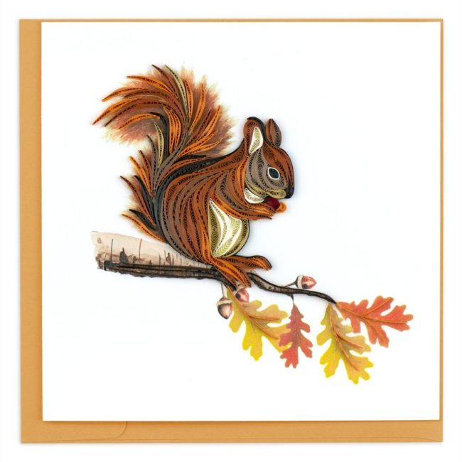 squirrel quilling card