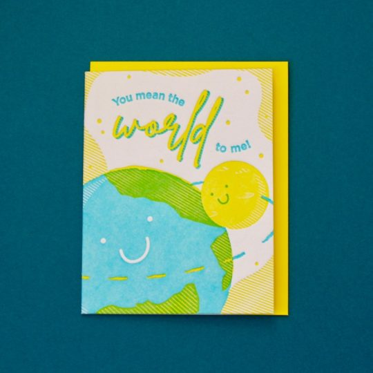 you mean the world to me card 1