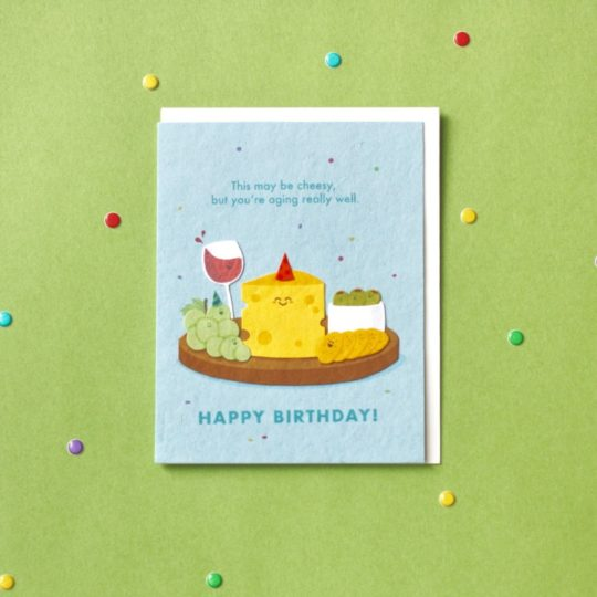 aging well bday card styled