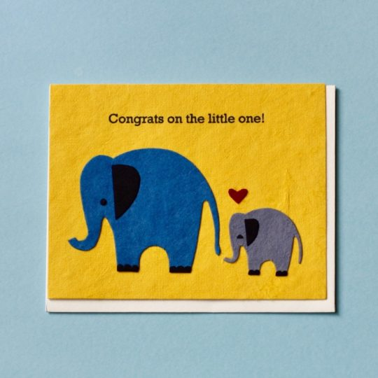elephants congrats card