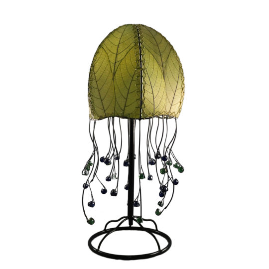 green jellyfish leaf table lamp