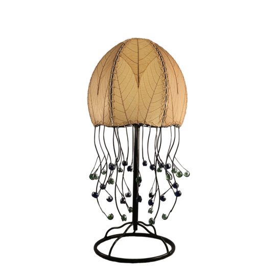 natural jellyfish leaf table lamp