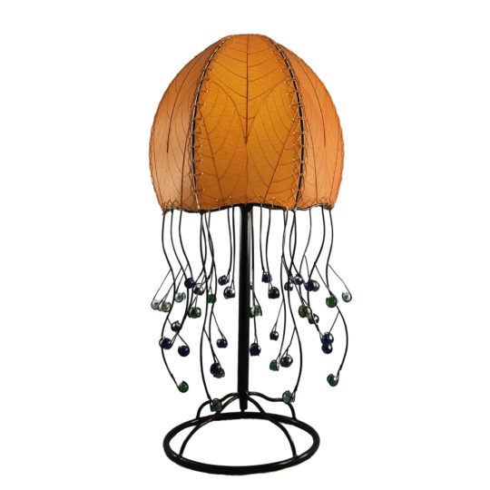 orange jellyfish leaf table lamp