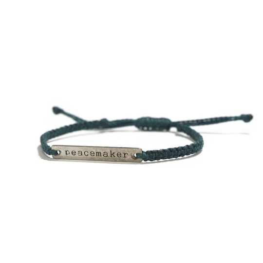 forest green peacemaker bracelet