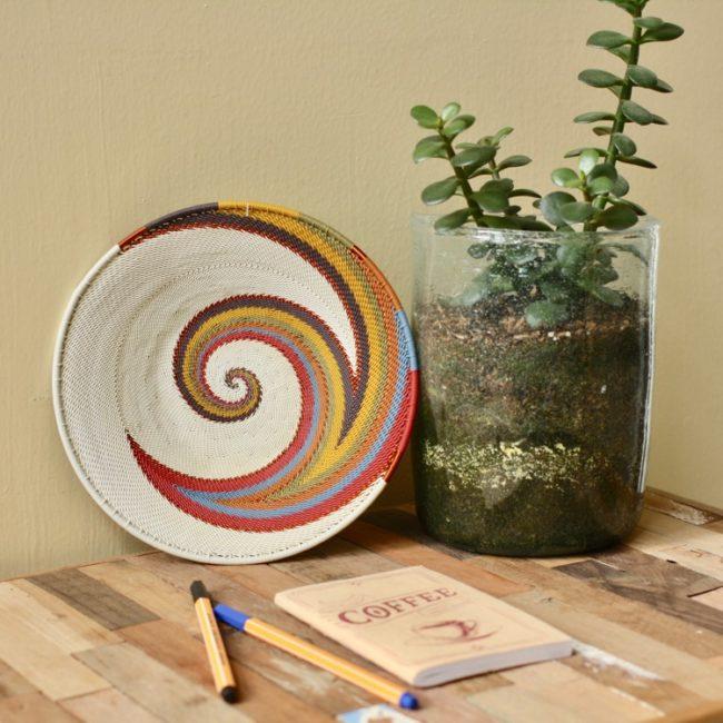 painted desert telephone wire mini platter styled