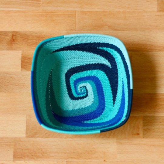 african ocean telephone wire square bowl styled