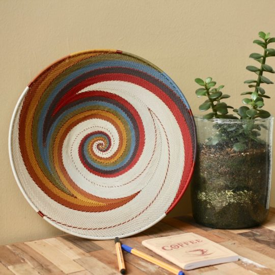 white desert telephone wire small platter