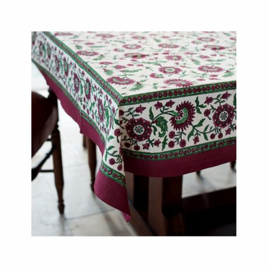 crimson aster square tablecloth