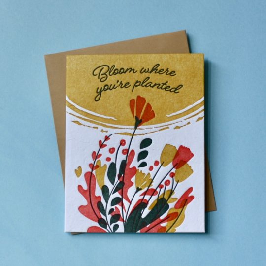 bloom where planted card tyled
