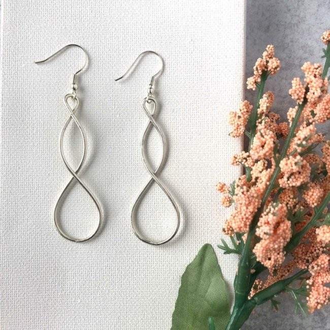 double helix earrings styled 1