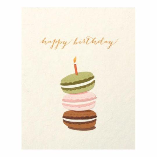 macaron birthday card