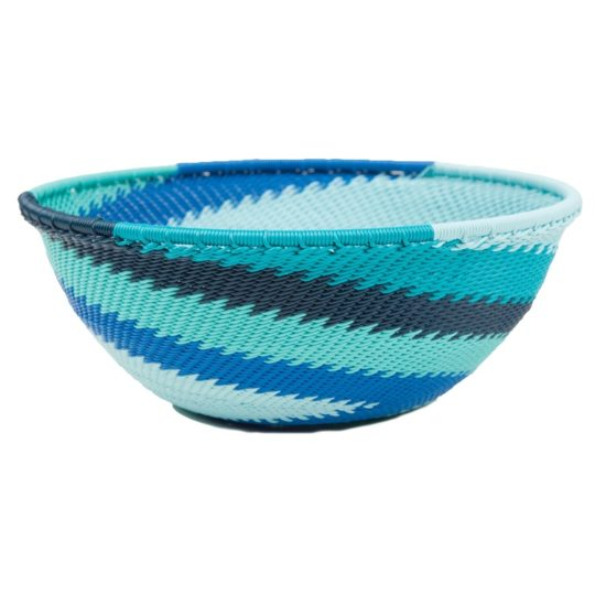 medium round telephone wire bowl ocean