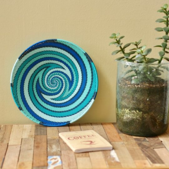 ocean telephone wire platter small