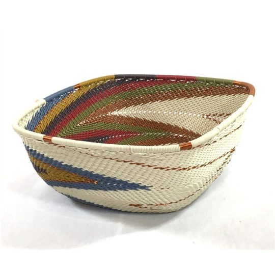 painted desert telephone wire square bowl