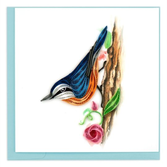 red breasted nuthatch quililng card