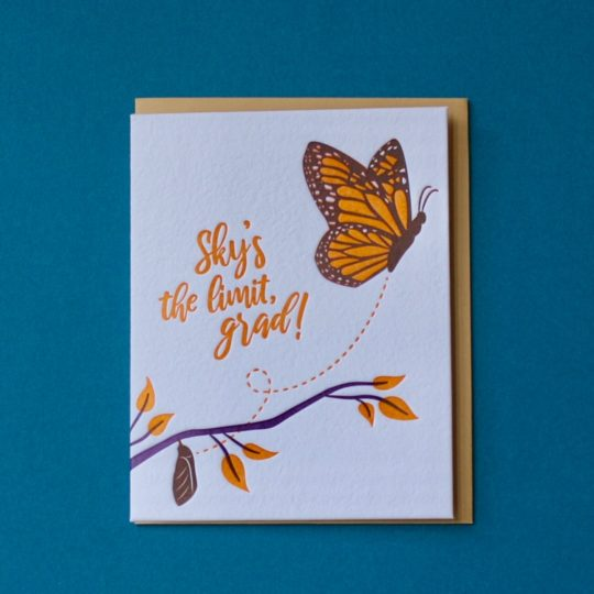butterfly graduation card styled