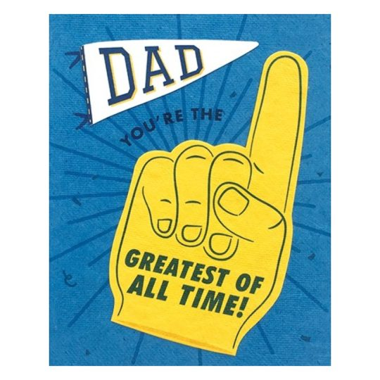 greatest of all time fathers day card