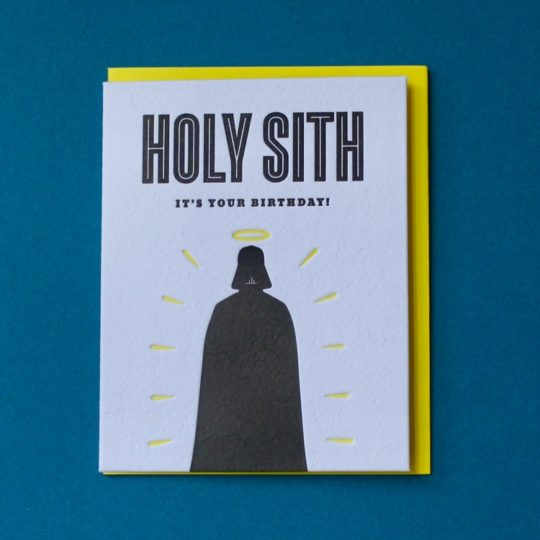 holy sith bday card styled