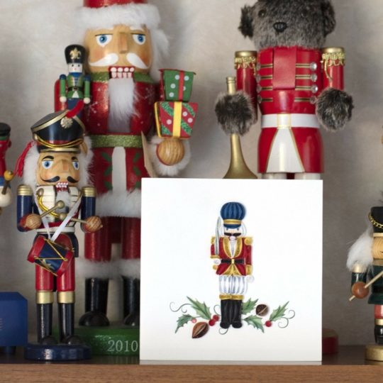 nutcracker quiling card styled