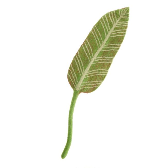 green white felt calathea leaf
