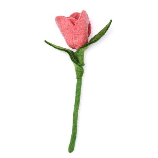 felt tulip rose