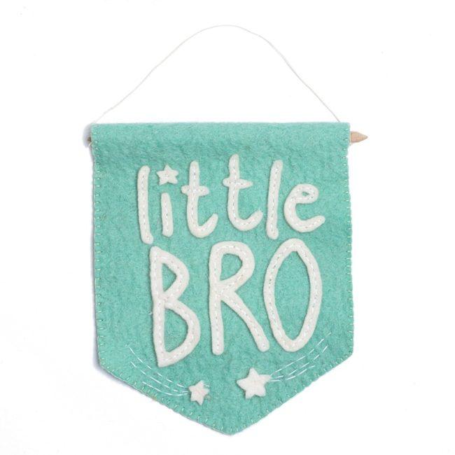 little bro felt banner flag