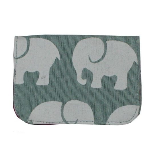 Grey elephant card holder