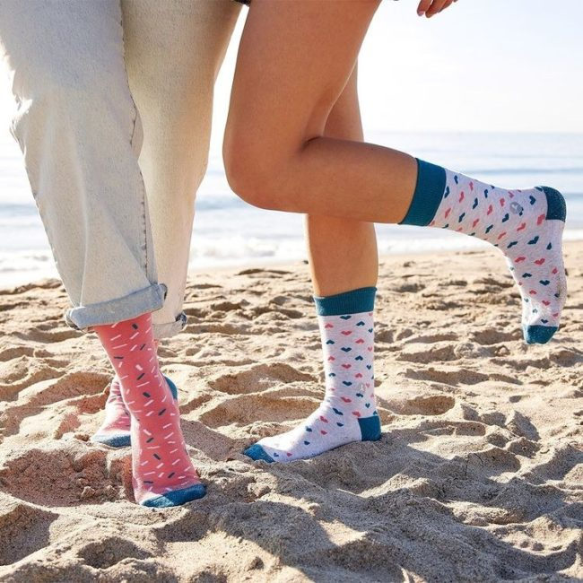 Socks That Find a Cure Hearts model