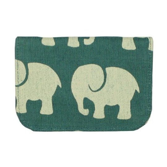 Teal elephant card holder