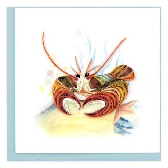 deep sea lobster quilling card