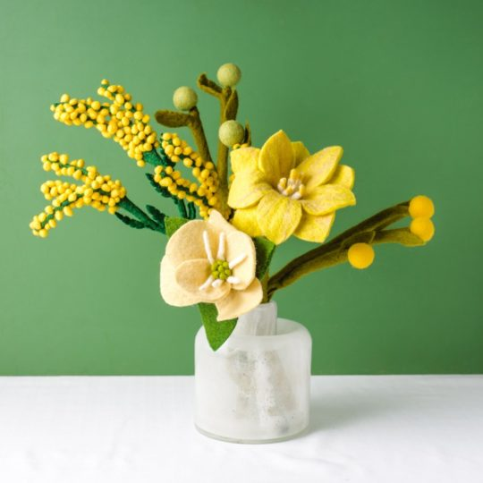 felt flower bouquet citrus zest 1