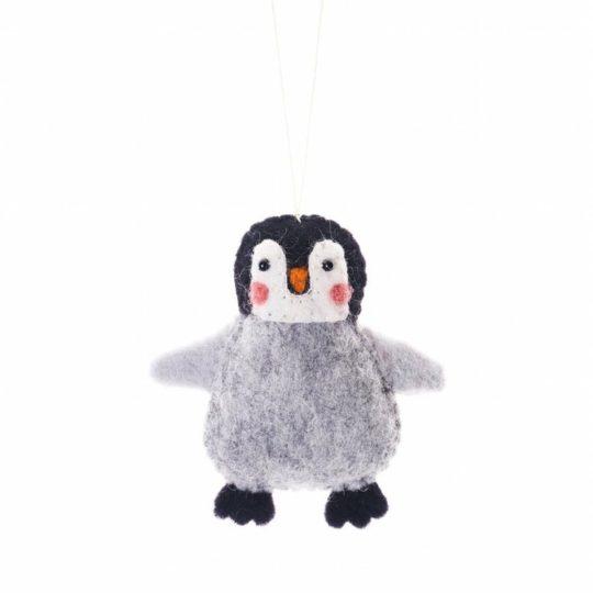 Arctic penguin felt ornament
