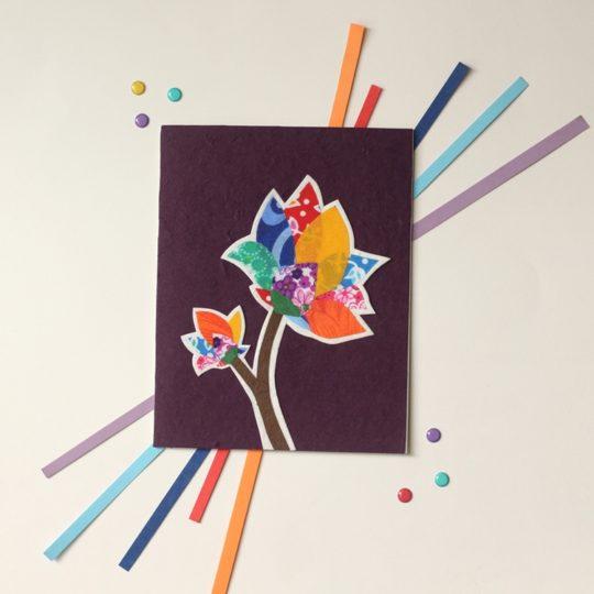 Batik-Flower-card Styled