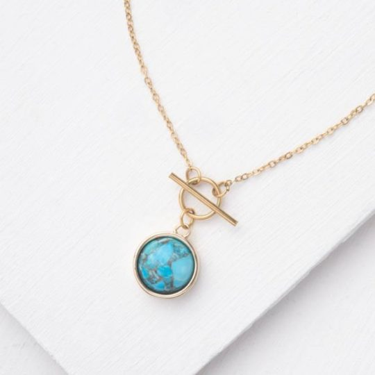 Treasure in Turquoise Necklace